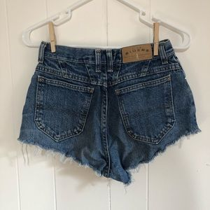 Vintage Riders high waisted distressed shorts